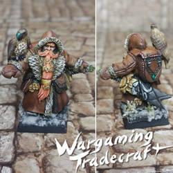 Dwarf Ranger with Falcon