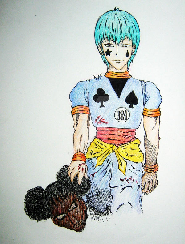 No. 44: Hisoka (colored) by Imbadoodles