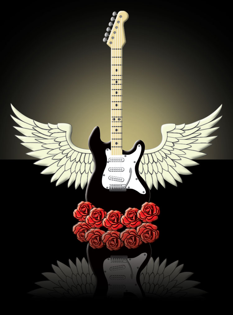 Guitar With Wings by luckylight on DeviantArt