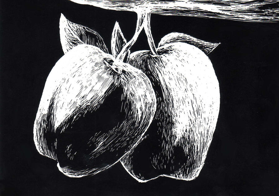Apple Scratch Art By SamuraiWARRIOR7