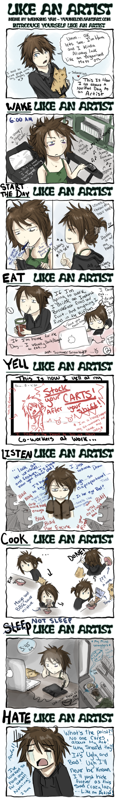 Like an artist Meme by SamuraiWARRIOR7