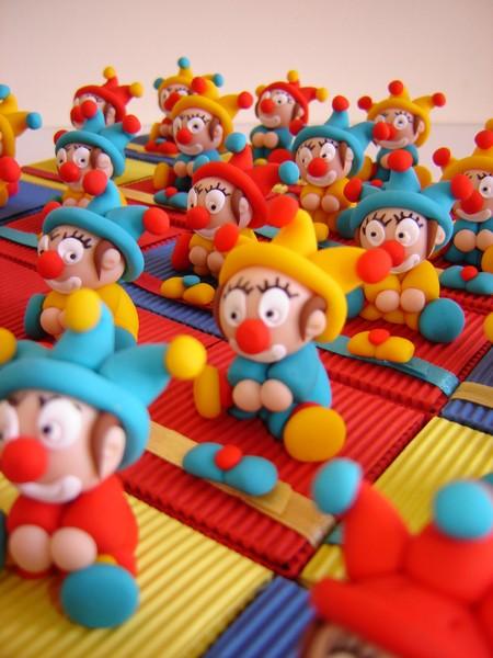 Boites a dragees clowns