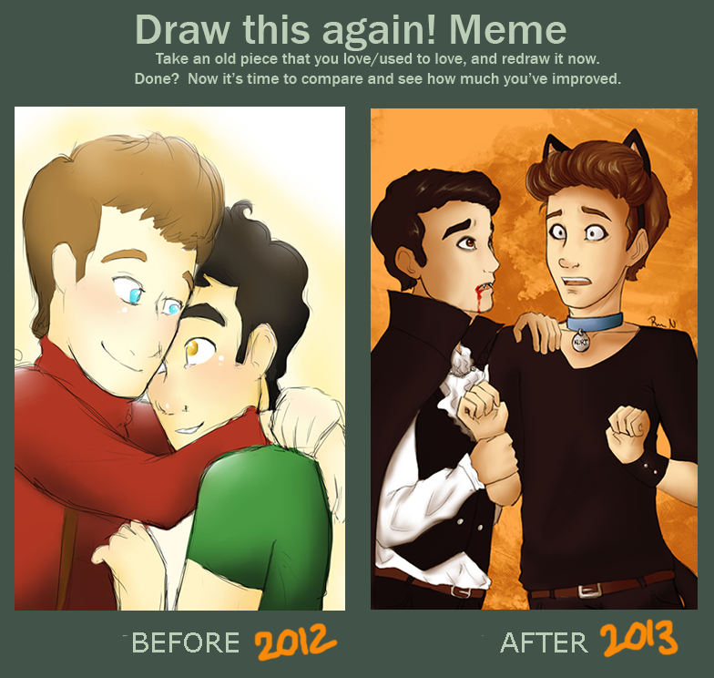Draw Klaine again by Vintage009