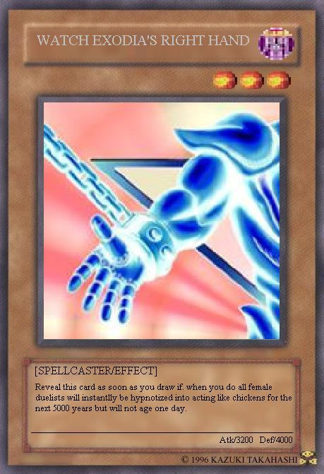 WATCH EXODIA'S RIGHT HAND by MAJIN-LORD
