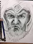 Quick sketch of a warrior