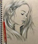 Drawing of a sleeping girl