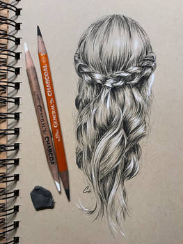 Small drawing of braided hair