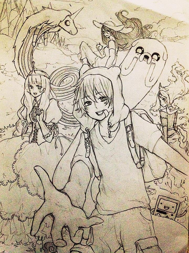 Adventure timeeeeeeeee :3 by teapartyblues