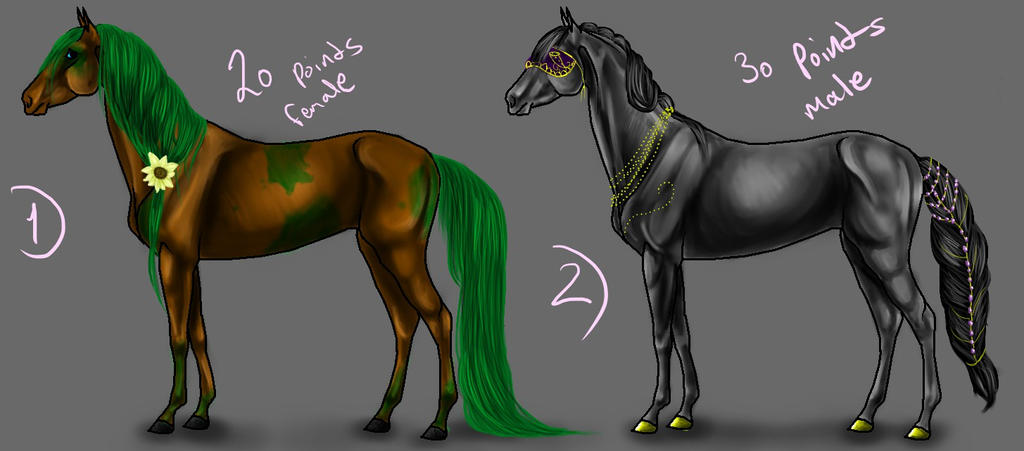 EQUINE ADOPTS :CLOSED: by NEFUR-STUDIOS