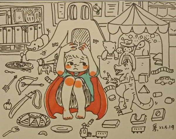 children illustration :I wish to be a hero but... by TanGingG92