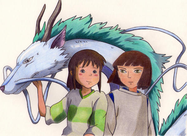 Chihiro and Haku by Le...