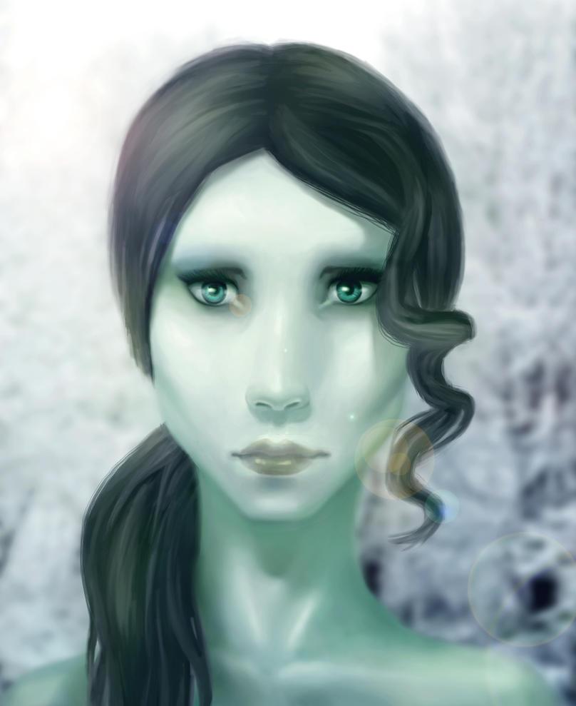 portrait of an alien by Kazita