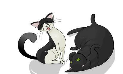 Kitties by angrystar