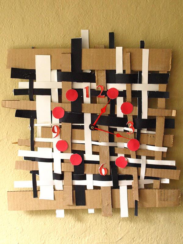 Modern Weave Clock by LezzieLexi2QT2BSTR8
