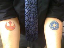 Rebel-Empire Tattoos by HonestVillain