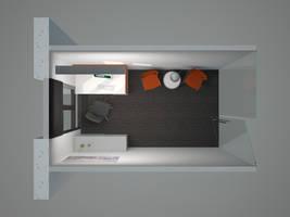 Meeting Room - Top View by sirethomas