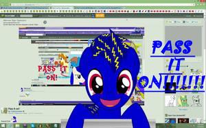 Pass it on!!!!! by Bluemansonic