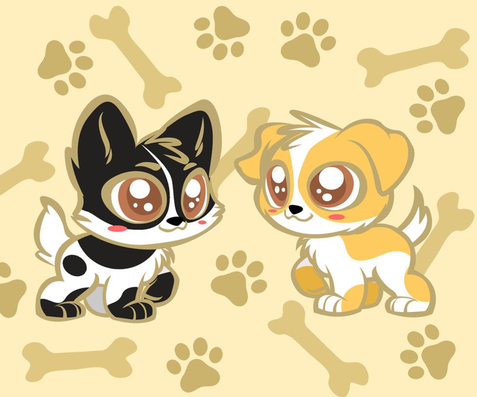 Chibi Dog Kawaii chibi dogs by