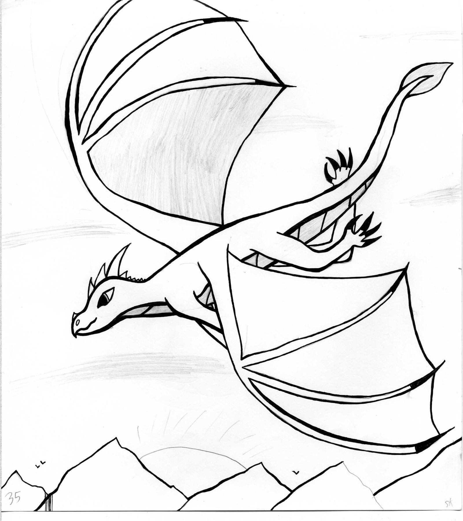 Akara Flying by GwillaTheDragon
