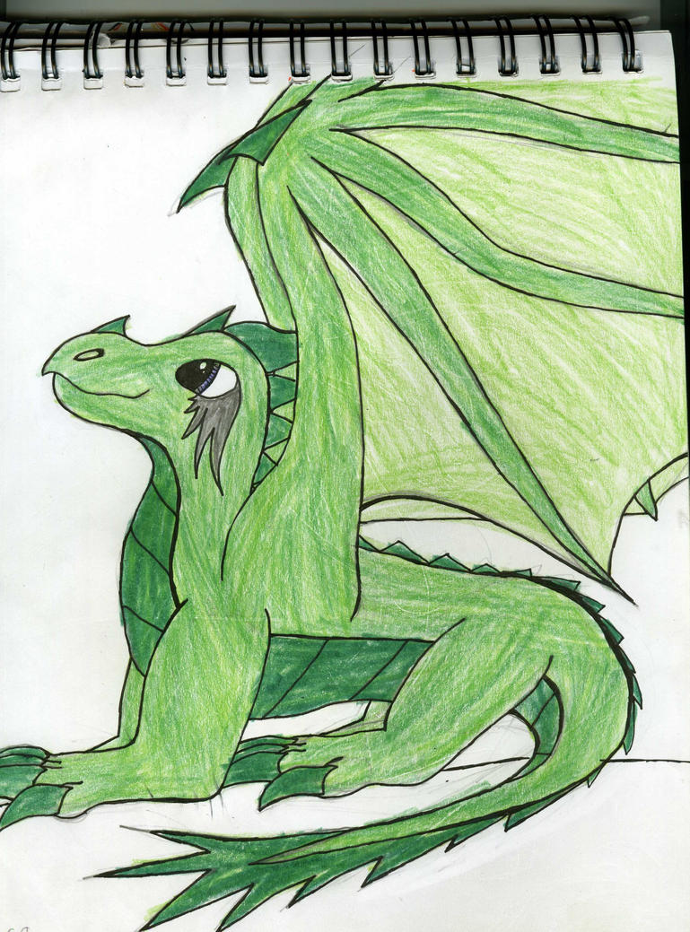 Green Dragon by GwillaTheDragon