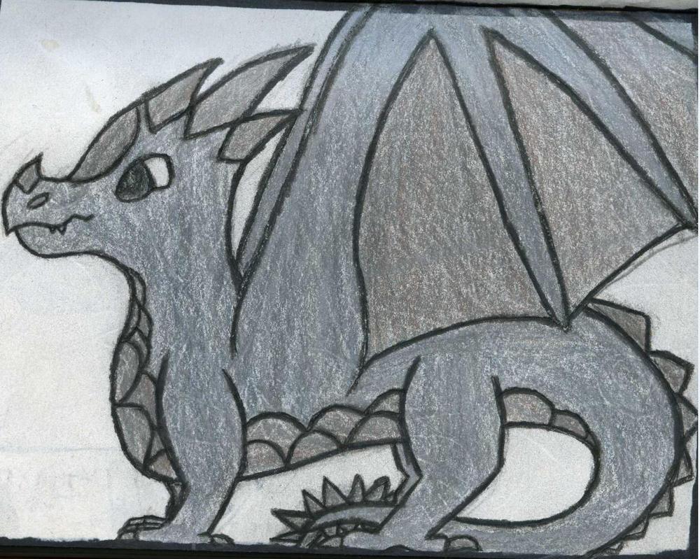 Boulder Dragon by GwillaTheDragon