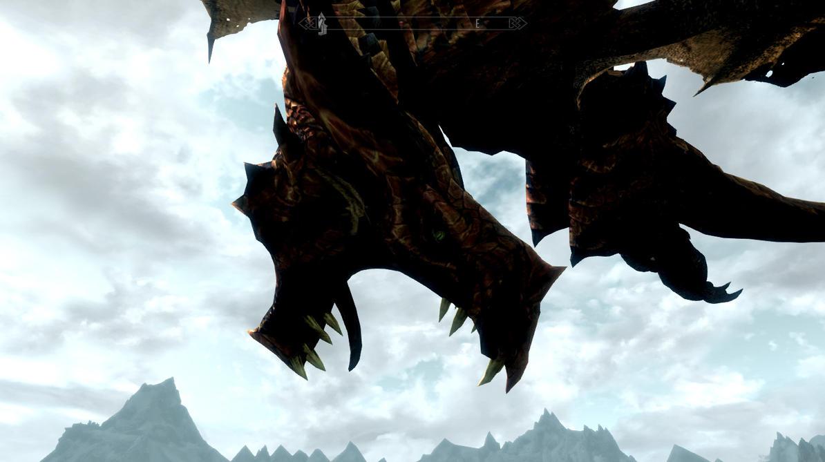 Skyrim Screenshot: Rawr! by GwillaTheDragon