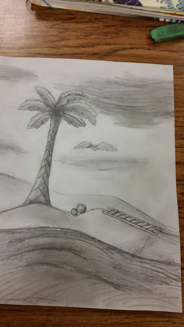 Palm Tree Sketch by GwillaTheDragon