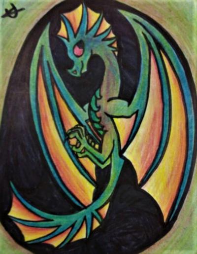 Dragon for a Friend by GwillaTheDragon