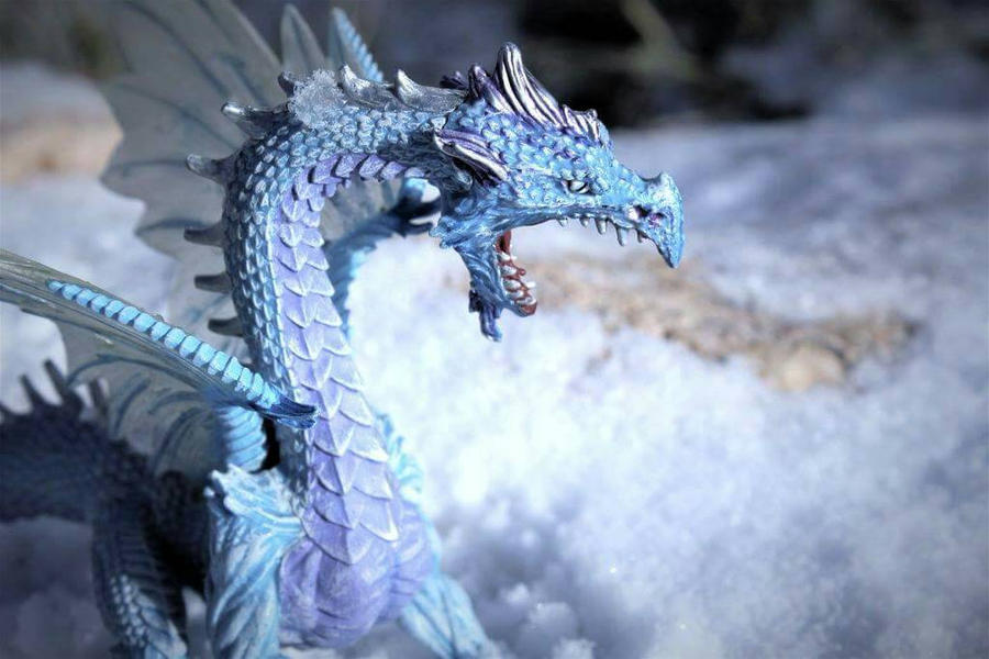 Dragon of Ice by GwillaTheDragon