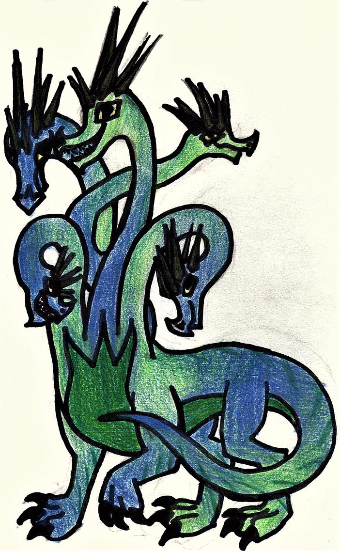Hydra by GwillaTheDragon