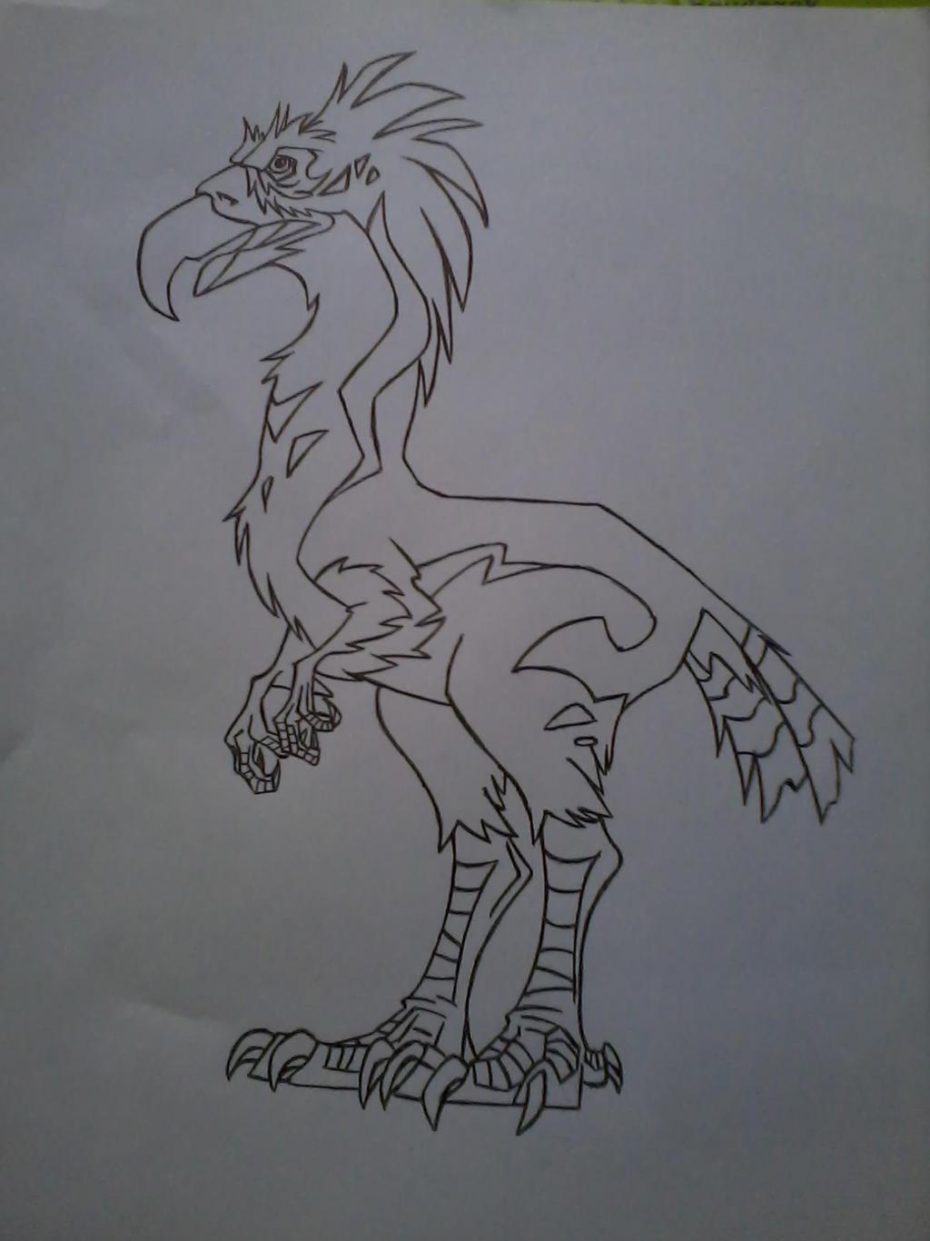 Turok Son Of Stone Terror Bird Lineart By Harpielady5nazifan On Deviantart
