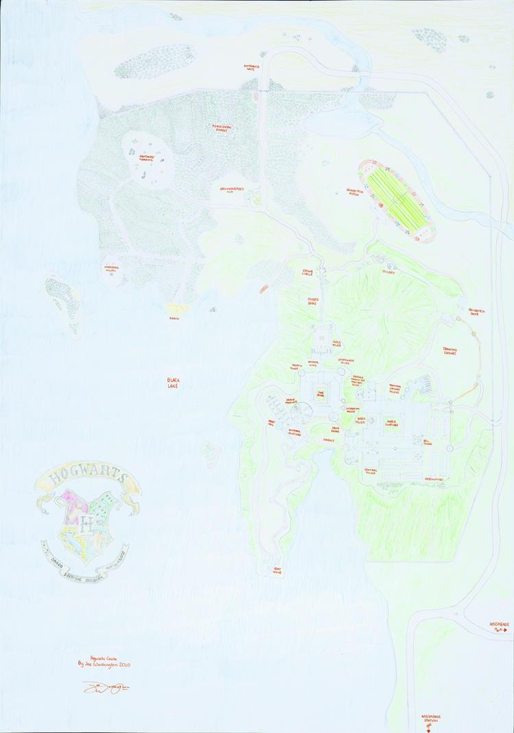 Hogwarts Castle Map by NewHogwartsVillain