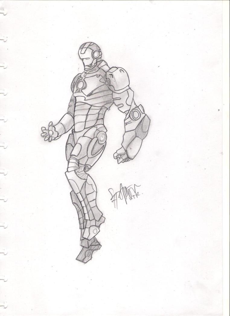 Iron Man Mark II Sketch By Otritotrit On DeviantArt