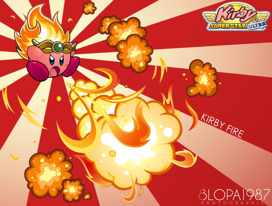 Kirby Fire By Blopa1987 On Deviantart