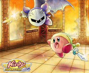 Kirby VS Meta Knight by Blopa1987