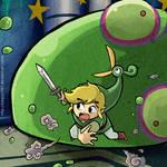 Link VS Big Green ChuChu and a HUGE HEAD