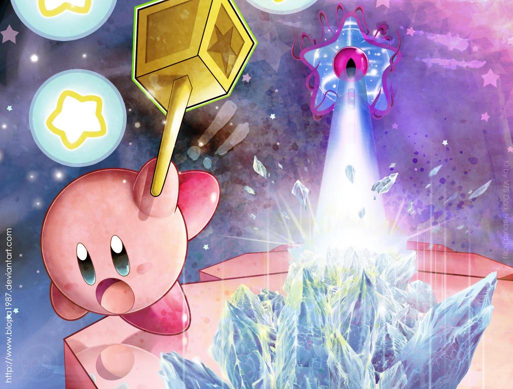 Kirby V/S Dark Nebula (Ice Form) by Blopa1987