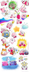 Kirby Many Sketches by Blopa1987