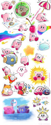 Kirby Many Sketches