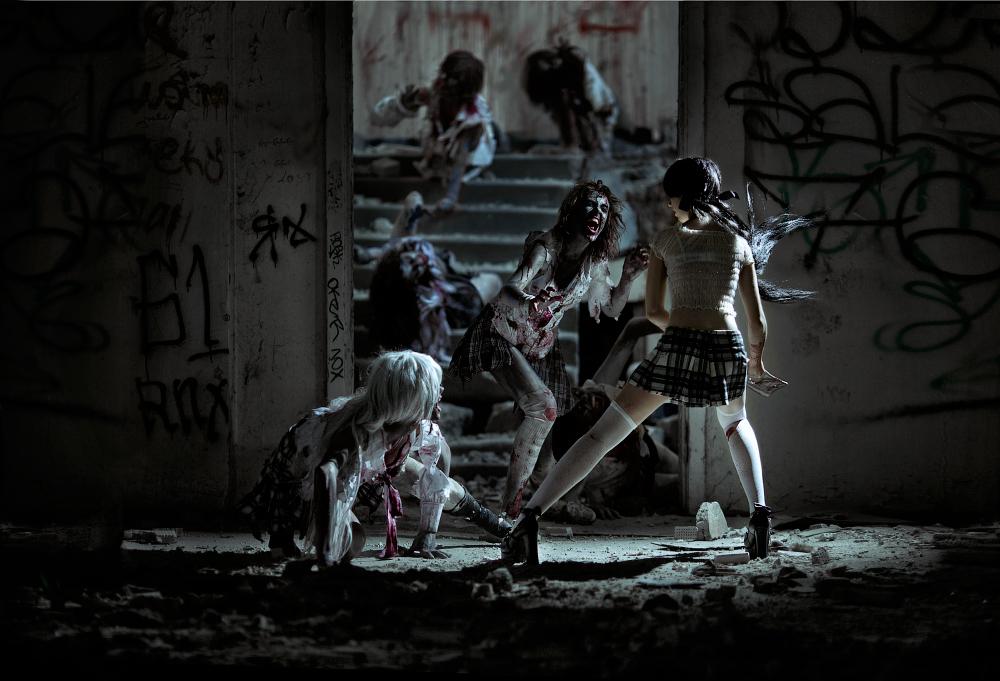 The zombie slayer by Wan-Mei