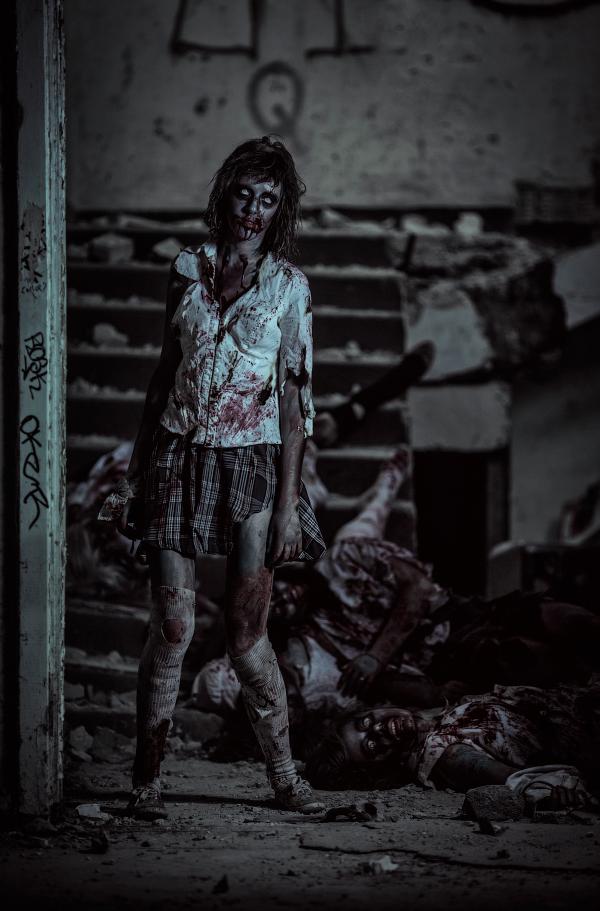 Zombie school by Wan-Mei