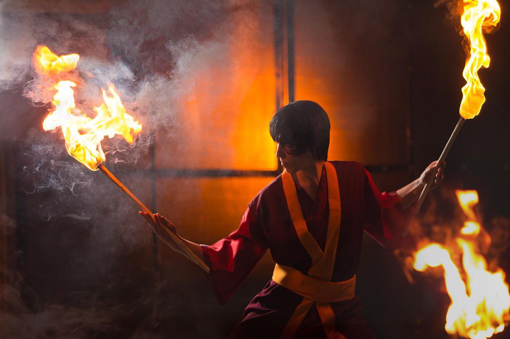 Zuko on fire by Wan-Mei