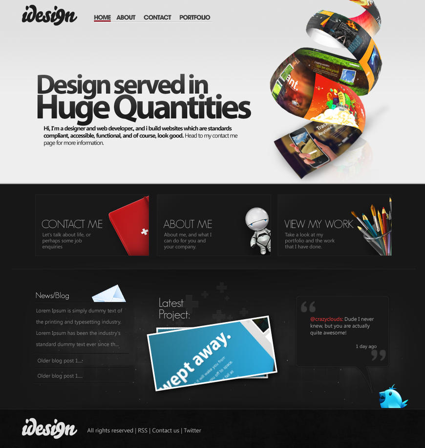 Portfolio design 2010 by crazyclouds