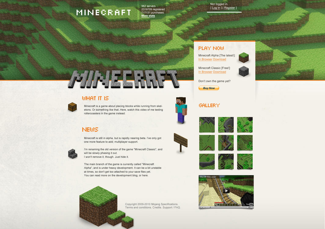 Minecraft web -UNOFFICIAL- by crazyclouds