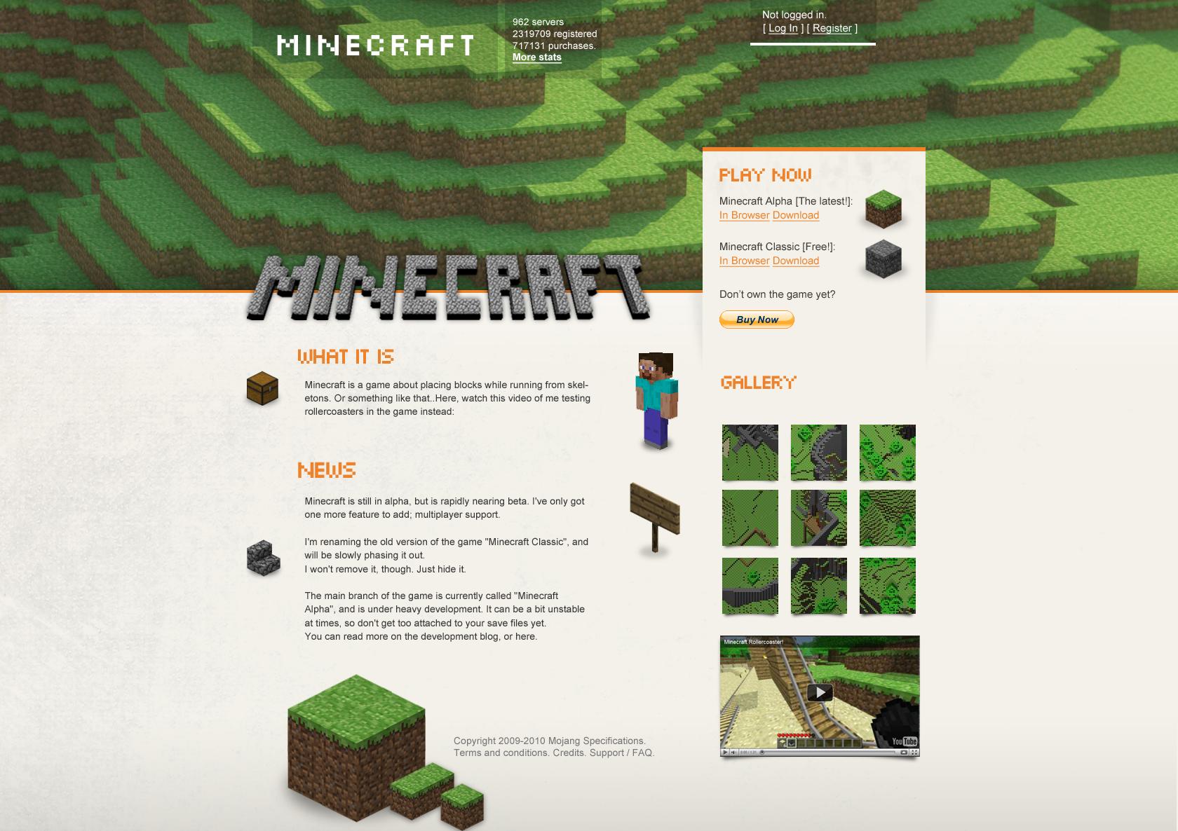 minecraft website templates
