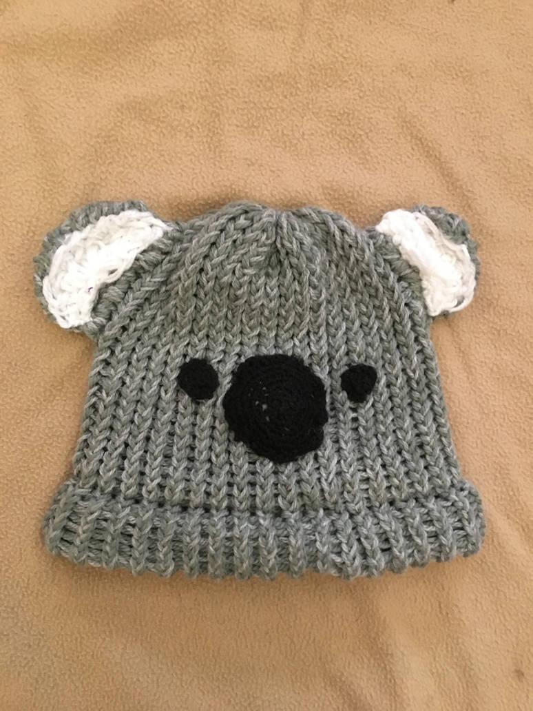Koala knitted hat by Rockyracc00n