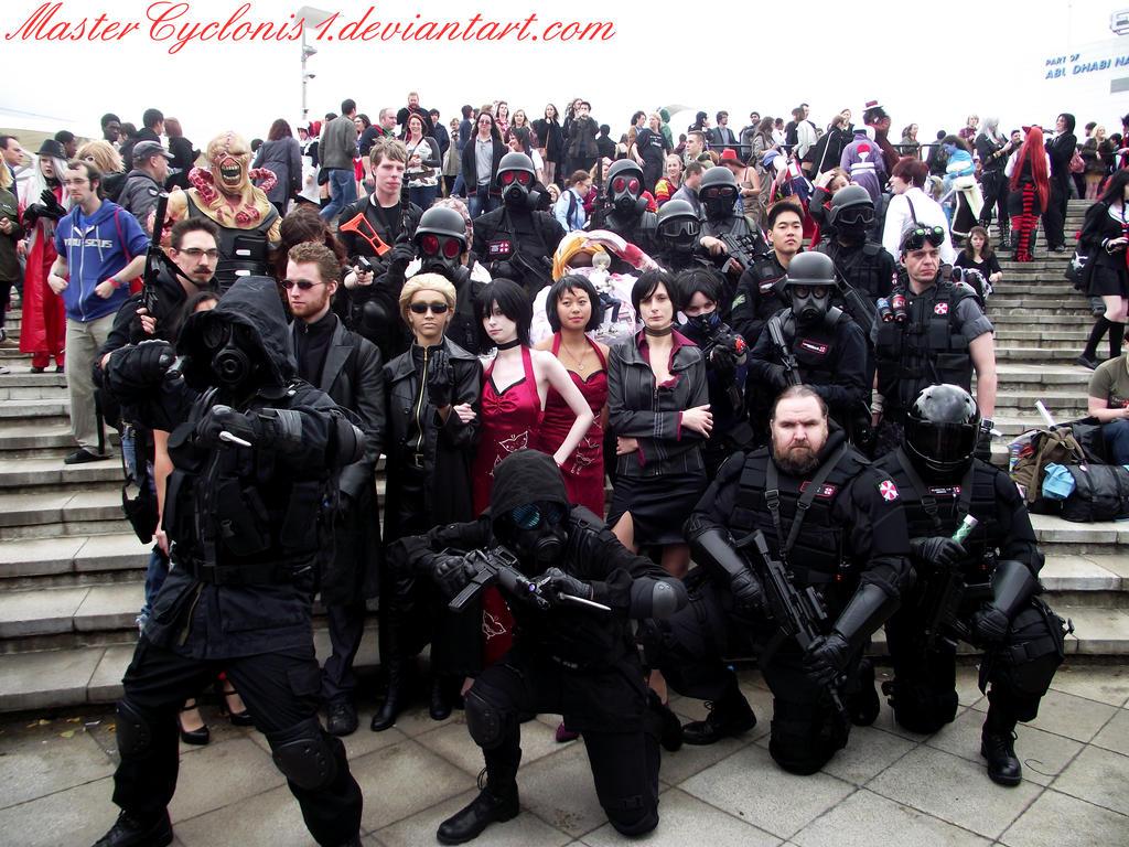 Favoritos London MCM: Umbrella Corporation group photoshoot by  JI11