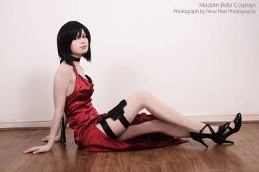Ada Wong Resident Evil 4 - B!tch in the red dress by MasterCyclonis1