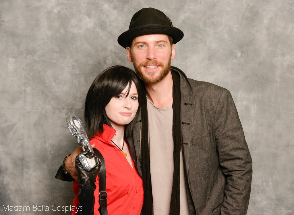 Ada Wong and Troy Baker (Jake Muller) by MasterCyclonis1