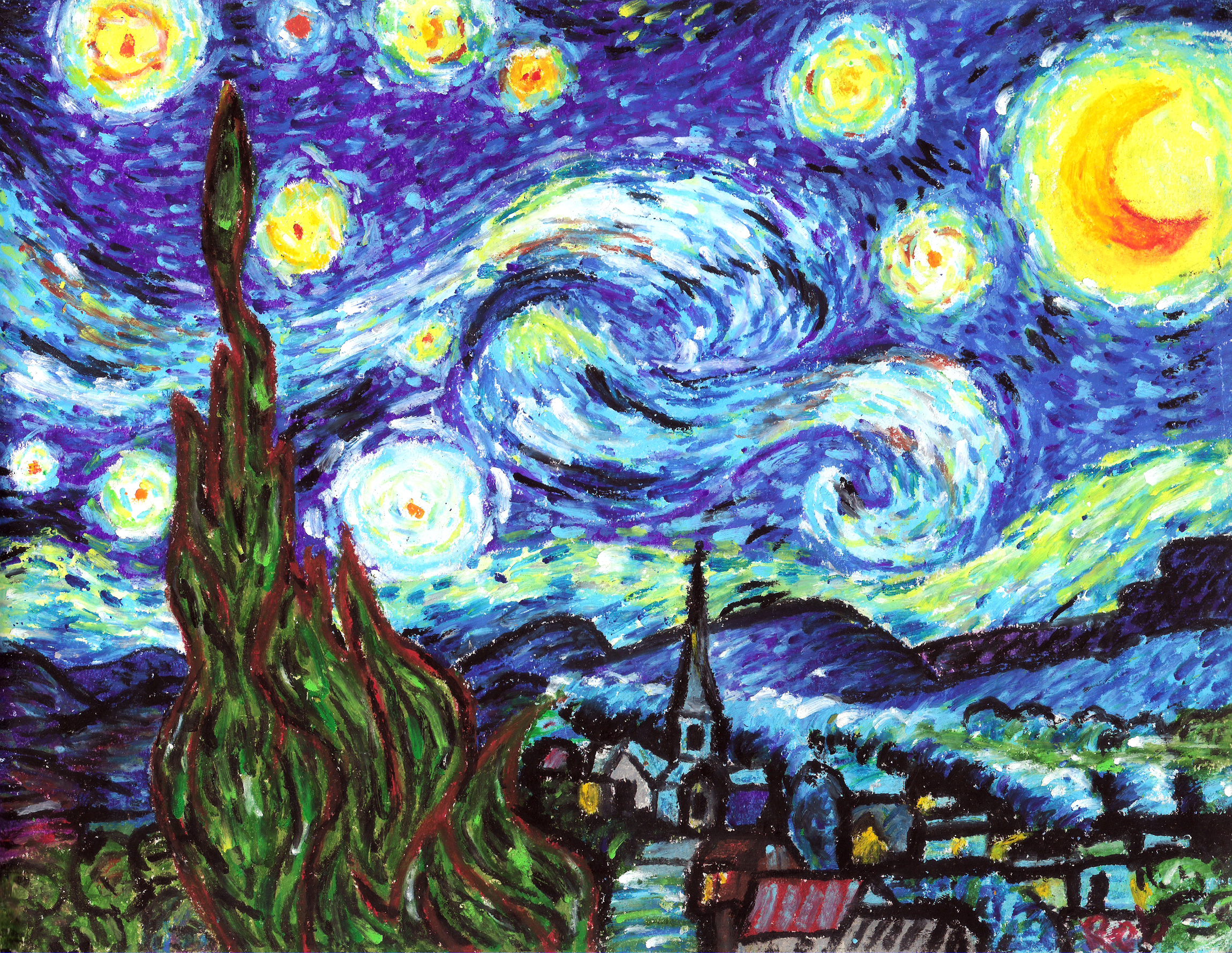 an experience with vincent van goghs the starr night
